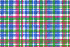 Green blue check tartan plaid seamless pattern Stock Photo