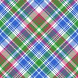 Green blue check tartan plaid seamless pattern Royalty Free Stock Photos