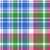 Green blue check tartan plaid seamless pattern Royalty Free Stock Photography