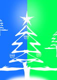 Green blue christmas tree Stock Image
