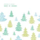 Green blue Christmas trees silhouettes textile Stock Photo