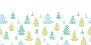 Green blue Christmas trees silhouettes textile Royalty Free Stock Images