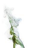 Green and blue cigarette smoke Stock Photography