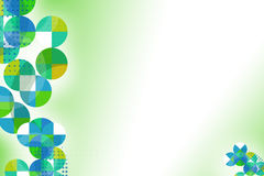 Green and blue circle left side, abstrack background Royalty Free Stock Photo