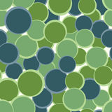 Green blue circles seamless pattern. Abstract decorative background. Vector illustration. Royalty Free Stock Photos