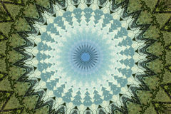 Green and blue circular ethnic ornament Royalty Free Stock Photography