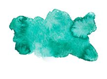 Green blue colorful abstract hand draw watercolour Royalty Free Stock Photography