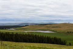 Green and blue colors in the midlands. South Africa royalty free stock images