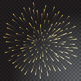 Green and blue coloured firework isolated on transparent background. Vector illustration Royalty Free Stock Images