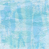 Green and blue crumpled paper for background Stock Photo