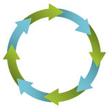 Green and blue cycle icon. Illustraction design image vector illustration