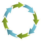 Green and blue cycle icon. Illustraction design image royalty free illustration