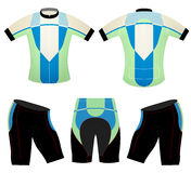 Green blue cycling vest design vector Stock Photo