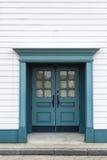 Green blue door Royalty Free Stock Photo