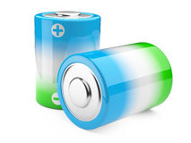 Green and blue eco battery Royalty Free Stock Image