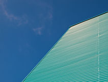 Green blue facade. Of a building in the Netherlands Royalty Free Stock Photo