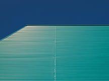 Green blue facade. Of a building in the Netherlands Stock Photos