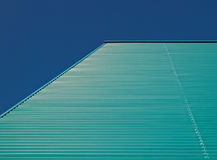Green blue facade. Of a building in the Netherlands Royalty Free Stock Photos