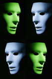 Green and Blue Faces Stock Photos
