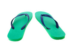 Green and blue flip flops Stock Photography