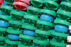 Green and blue floaters Royalty Free Stock Photography