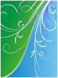 Green blue flower ornaments Royalty Free Stock Photo