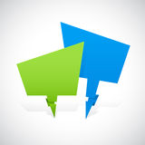 Green and Blue Formation Banner Stock Image