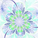 Green and blue fractal flower Royalty Free Stock Photography