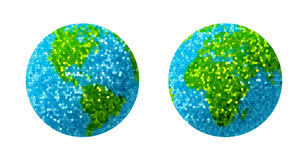 Green and blue grass Earth Globe. 3D render Stock Photography