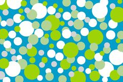 Background with green turquoise white dots. Green blue grey white dots on turquoise background Stock Photography