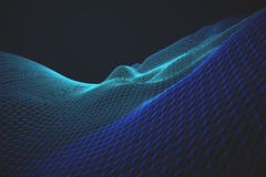 Green and blue grid waves Stock Photography