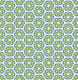 Green blue hexagonal flower pattern Stock Photo