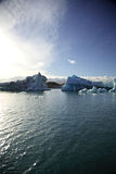 Green & Blue icebergs Stock Image