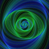 Green blue infinity - spiral fractal background. Green blue infinity - abstract spiral fractal background Royalty Free Stock Image