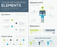 Green and blue infographic data visualization  elements Royalty Free Stock Photography