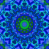 Green blue kaleidoscope. Yellow-red kaleidoscope for your leisure time and relax time Royalty Free Stock Photos