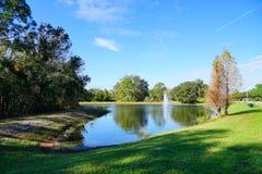 Green lake. A green blue lake, taken in Tampa, florida royalty free stock image