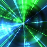 green and blue laser rays Royalty Free Stock Image