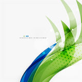 Green and blue light air lines Royalty Free Stock Image