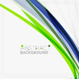 Green and blue lines background Royalty Free Stock Photos