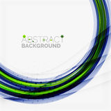 Green and blue lines background Stock Image