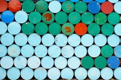 200 liter tank. Green and blue 200 liter tank Royalty Free Stock Image