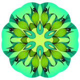 Green and blue mandala Royalty Free Stock Photo