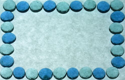 Green and Blue Marble Border Frame with Copy Space Stock Photography