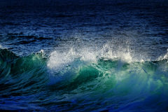 Green and Blue Ocean Waves Stock Image