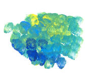 Green and blue oil paint background. Royalty Free Stock Photo