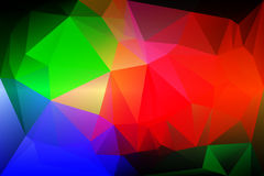 Green blue orange red low poly background. Green blue orange red abstract low poly geometric background Stock Photos