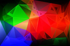 Green blue orange red random sizes low poly background. Green blue orange red abstract random sizes low poly geometric background Stock Images