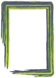 Green and blue paint frame Royalty Free Stock Image