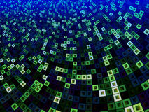 Green and Blue Pattern of Squares Within Squares Stock Photos